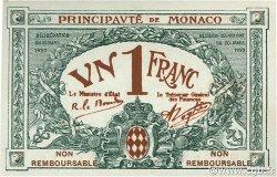 1 Franc MONACO  1920 P.05e NEUF