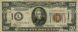 20 Dollars HAWAII  1934 P.41 TB+