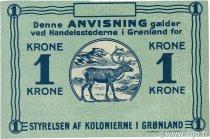 1 Krone GROENLAND  1913 P.13 SPL