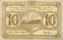 10 Kroner GROENLAND  1953 P.19b TB+