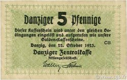 5 Pfennige DANTZIG  1923 P.34a TTB+