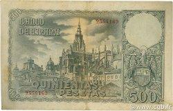 500 Pesetas ESPAGNE  1940 P.124 TTB