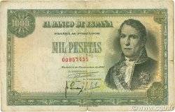 1000 Pesetas ESPAGNE  1949 P.138 TB