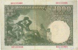 1000 Pesetas ESPAGNE  1949 P.138 TTB