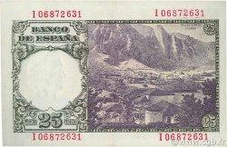 25 Pesetas ESPAGNE  1946 P.130a SPL