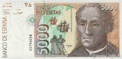 5000 Pesetas ESPAGNE  1992 P.165 NEUF