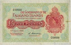 5 Pounds ÎLES FALKLAND  1960 P.09a TTB