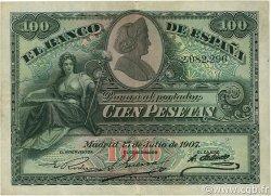 100 Pesetas ESPAGNE  1907 P.064a TTB+