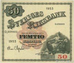 50 Kronor SUÈDE  1953 P.35af SPL