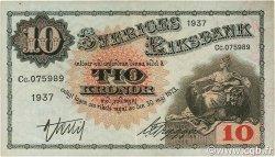 10 Kronor SUÈDE  1937 P.34t pr.SUP