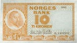 10 Kronor NORVÈGE  1962 P.31c NEUF