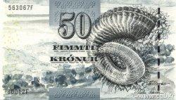 50 Kronur ÎLES FEROE  2001 P.24 SUP+