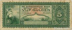5 Gulden CURACAO  1943 P.25 TB