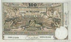 100 Francs BELGIQUE  1920 P.078 pr.SUP