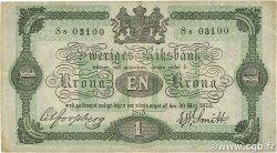 1 Krona SUÈDE  1875 P.01b TTB+