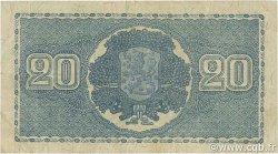 20 Markkaa FINLANDE  1945 P.086 TTB
