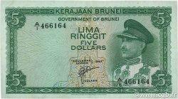 5 Ringgit BRUNEI  1967 P.02a TTB