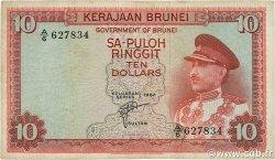 10 Ringgit BRUNEI  1967 P.03a TB+