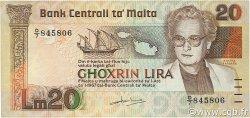 20 Lira MALTE  1986 P.40 TTB