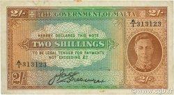 2 Shillings MALTE  1942 P.17a TTB