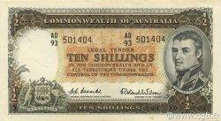 10 Shillings AUSTRALIE  1954 P.29 SUP+