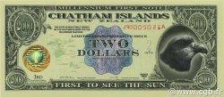 2 Dollars ILES CHATHAM  1999  NEUF