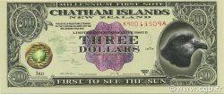 3 Dollars ILES CHATHAM  1999 P.-- NEUF
