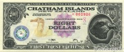 8 Dollars CHATHAM ISLANDS  2001 P.--