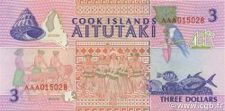 3 Dollars ÎLES COOK  1992 P.07a NEUF