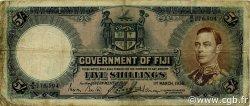 5 Shillings FIDJI  1938 P.037b TB