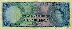 5 Shillings FIDJI  1961 P.051b TB+
