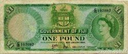 1 Pound FIDJI  1964 P.053f TB