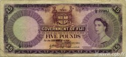 5 Pounds FIDJI  1964 P.054e B+