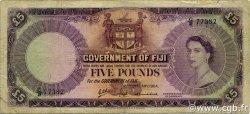 5 Pounds FIDJI  1964 P.054e B+