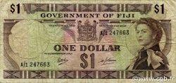 1 Dollar FIDJI  1969 P.059a TB