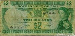 2 Dollars FIDJI  1969 P.060a B+