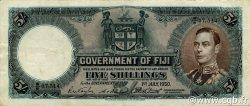 5 Shillings FIDJI  1950 P.037j TTB