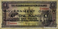 1 Pound FIDJI  1942 P.045c TB