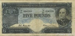 5 Pounds AUSTRALIE  1960 P.35a TB