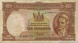 10 Shillings NOUVELLE-ZÉLANDE  1955 P.158a TB+