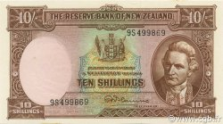 10 Shillings NOUVELLE-ZÉLANDE  1967 P.158d NEUF