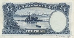 5 Pounds NOUVELLE-ZÉLANDE  1955 P.160a SPL