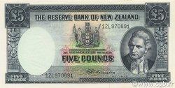 5 Pounds NOUVELLE-ZÉLANDE  1967 P.160c SPL+