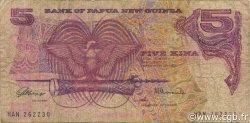 5 Kina PAPOUASIE NOUVELLE GUINÉE  1981 P.06a B+