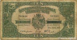 10 Shillings TONGA  1937 P.06 B+