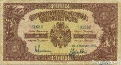 4 Shillings TONGA  1953 P.09b TB