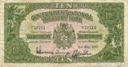 10 Shillings TONGA  1954 P.10b TTB