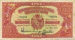 1 Pound TONGA  1954 P.11b TTB