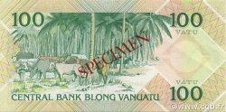 100 Vatu VANUATU  1982 P.01s SPL
