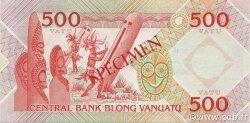 500 Vatu VANUATU  1982 P.02s SPL